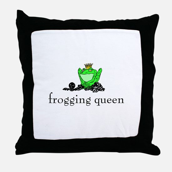 Yarn - Frogging Queen Throw Pillow