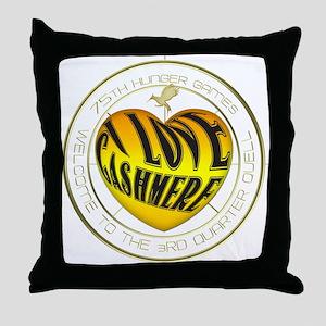 I Love Cashmere Heart Throw Pillow
