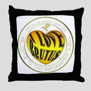 I Love Brutus Heart Throw Pillow