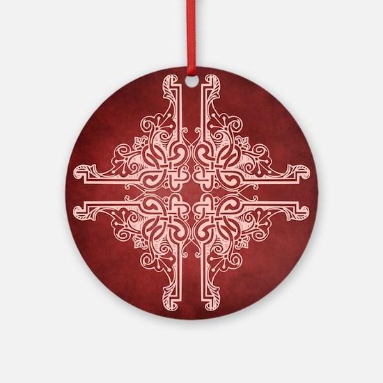 BURGUNDY Ornament (Round)