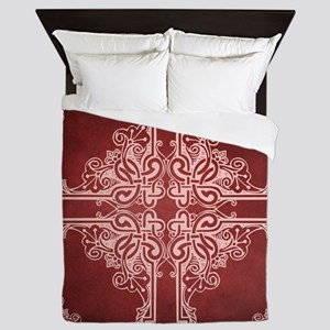 BURGUNDY Queen Duvet