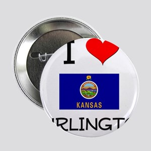 "I Love BURLINGTON Kansas 2.25"" Button"