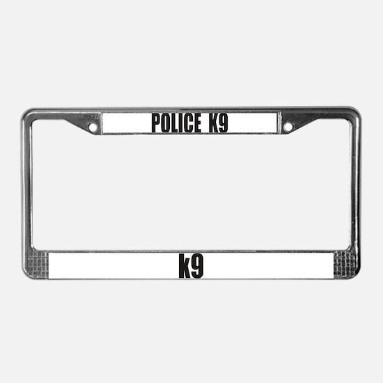 POLICE K9 LOGO License Plate Frame