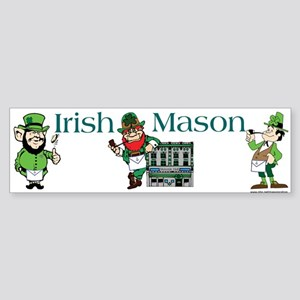 Masonic Irish Masons Bumper Sticker