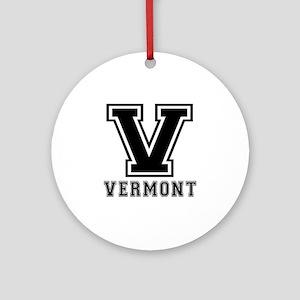 Vermont State Designs Ornament (Round)