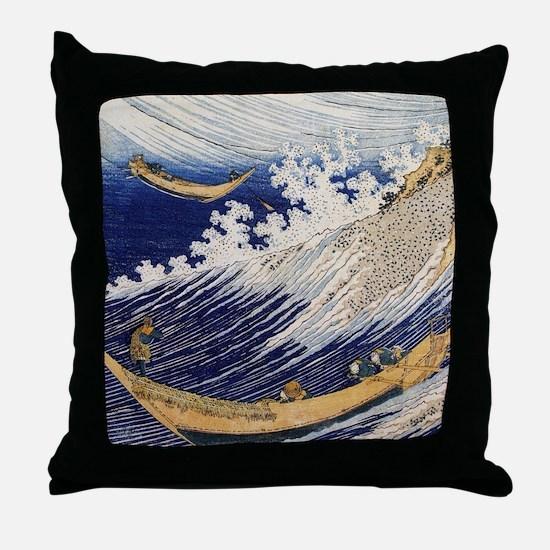 Ocean Wave by Hokusai Throw Pillow