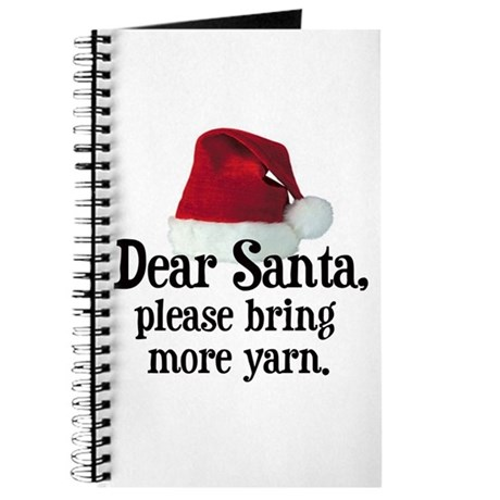 Santa Bring More Yarn Journal