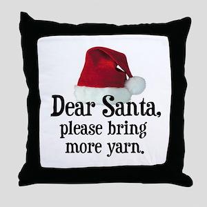 Santa Bring More Yarn Throw Pillow