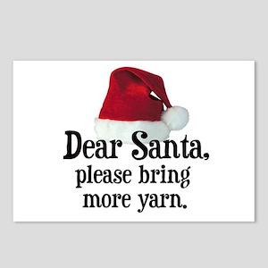 Santa Bring More Yarn Postcards (Package of 8)