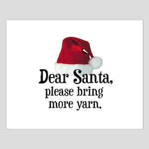 Santa Bring More Yarn Small Poster