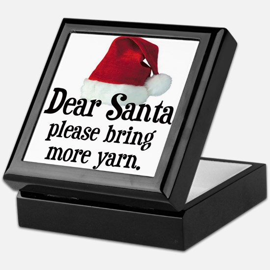 Santa Bring More Yarn Keepsake Box