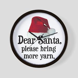 Santa Bring More Yarn Wall Clock