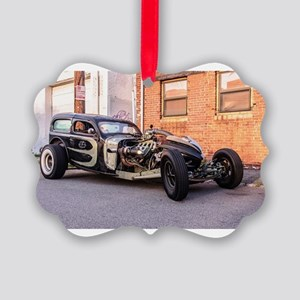 Rat Rod from Hell Picture Ornament