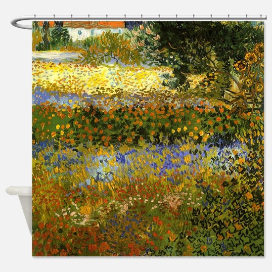 Van Gogh: Flowering Garden Shower Curtain