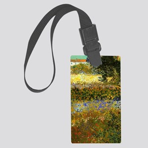Van Gogh: Flowering Garden Large Luggage Tag