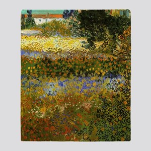 Van Gogh: Flowering Garden Throw Blanket
