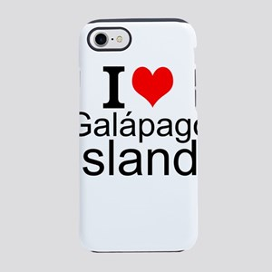 I Love Galápagos Islands iPhone 7 Tough Case