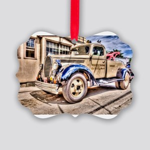 Tow Truck Picture Ornament