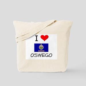 I Love OSWEGO Kansas Tote Bag