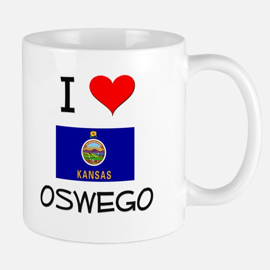 I Love OSWEGO Kansas Mugs