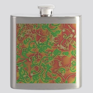shiny red Flask