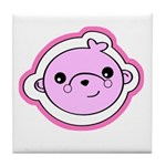 Pink Happy Bear Tile Coaster