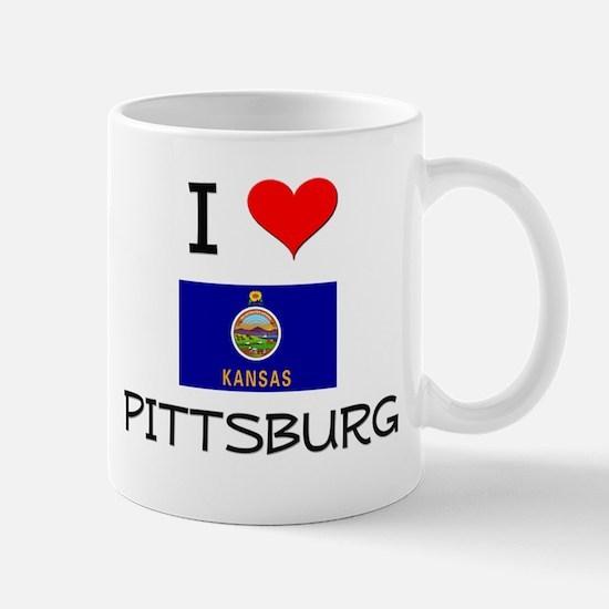 I Love PITTSBURG Kansas Mugs