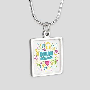 Drum Major Silver Square Necklace