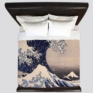The Great Wave by Hokusai King Duvet