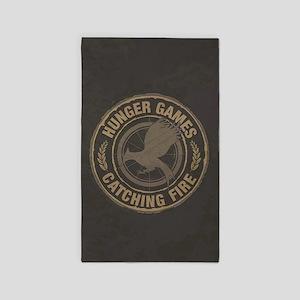 Catching Fire MockingJay Logo 3'x5' Area Rug