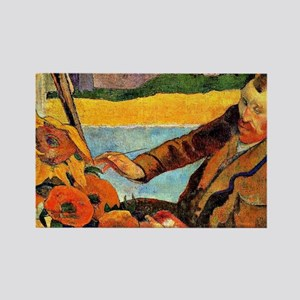 Van Gogh Painting Sunflowers, pai Rectangle Magnet