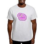 Purple Kissing Bunny Ash Grey T-Shirt