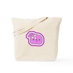 Purple Kissing Bunny Tote Bag