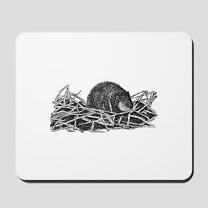 Muskrat (line art) Mousepad