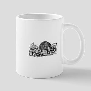 Muskrat (line art) Mugs