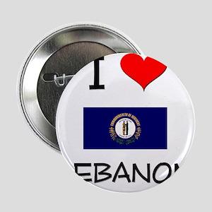 """I Love LEBANON Kentucky 2.25"""" Button"""