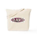 Up North Nortwoods Snowmobiler Tote Bag