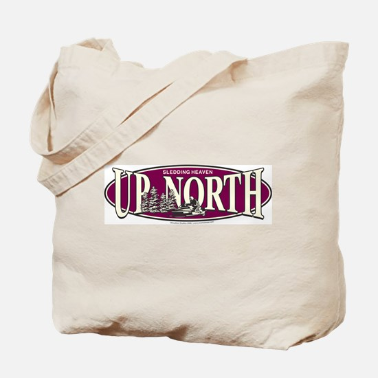 Up North Nortwoods Snowmobiler Tote Bag