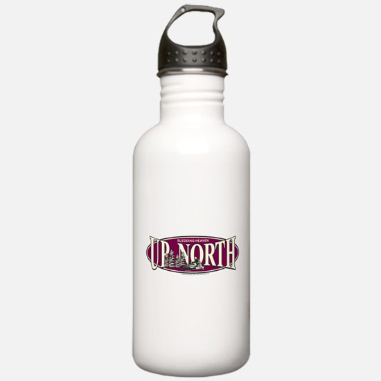 Up North Nortwoods Snowmobiler Water Bottle