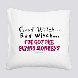 Got the Flying Monkeys (Red) Square Canvas Pillow