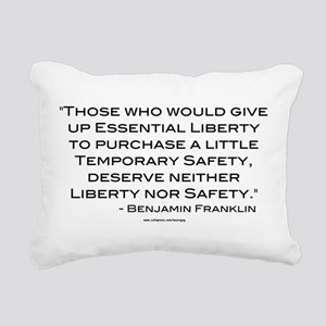 Liberty Nor Safety (Quote) Rectangular Canvas Pill