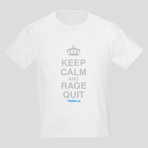 Keep Calm And Rage Quit Kids Light T-Shirt