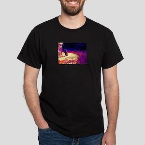 David Yellin Cat 07 thermal Dark T-Shirt