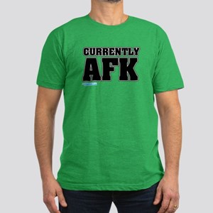 Currently AFK Men's Fitted T-Shirt (dark)