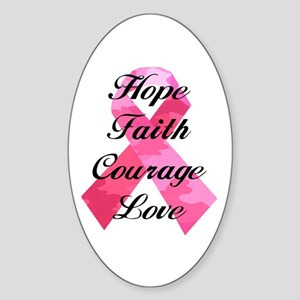Pink Camouflage Ribbon Sticker