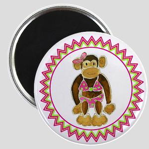 Polka Dot Bikini Monkey Zig Zag Magnet