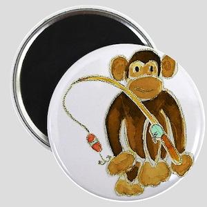 Monkey Gone Fishing Magnet