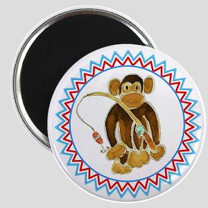 Monkey Gone Fishing Zig Zag Magnet