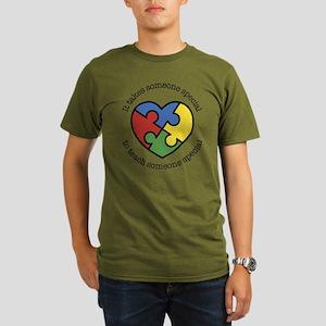 It Takes Someone Spec Organic Men's T-Shirt (dark)