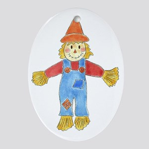 Scarecrow Oval Ornament